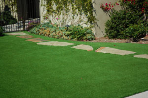 Synthetic Turf installed in this Myrtle Beach yard is beautiful.